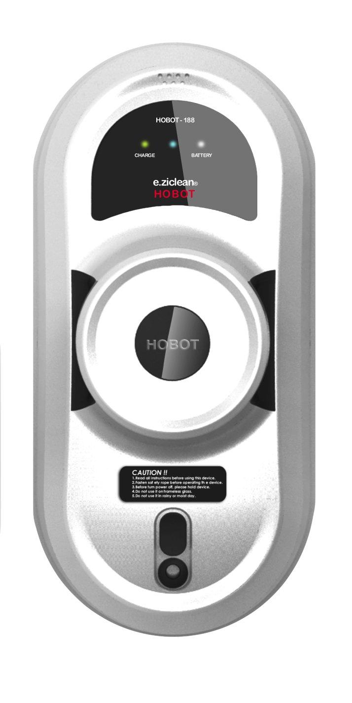 E.Ziclean Hobot V2 - Robot limpiador de ventanas y superficies de difícil acceso, 15 m cable, color blanco y negro