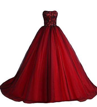 O.D.W Gotisch Lange Frauen Formales Brautkleider Vintage ...