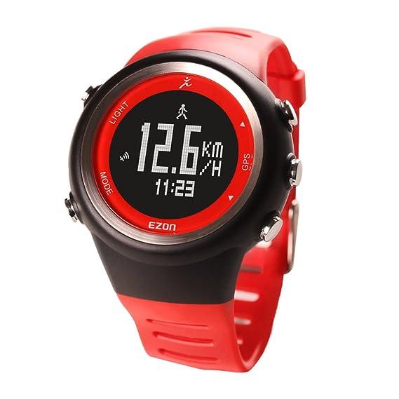 EZON T031 A02 Running GPS Reloj Inteligente con Ritmo, Velocidad, Distancia, Deporte Datos: Amazon.es: Relojes