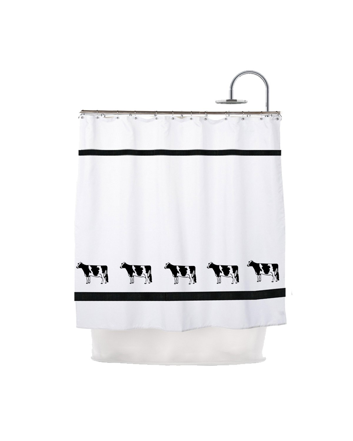 Amazon.com: Holstein Dairy Cow Shower Curtain - In Your Choice of ...