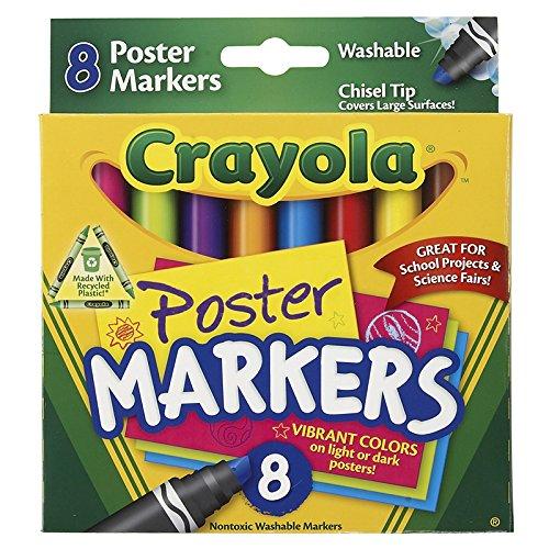 CRAYOLA LLC CRAYOLA 8CT POSTER MARKERS (Set of 12)
