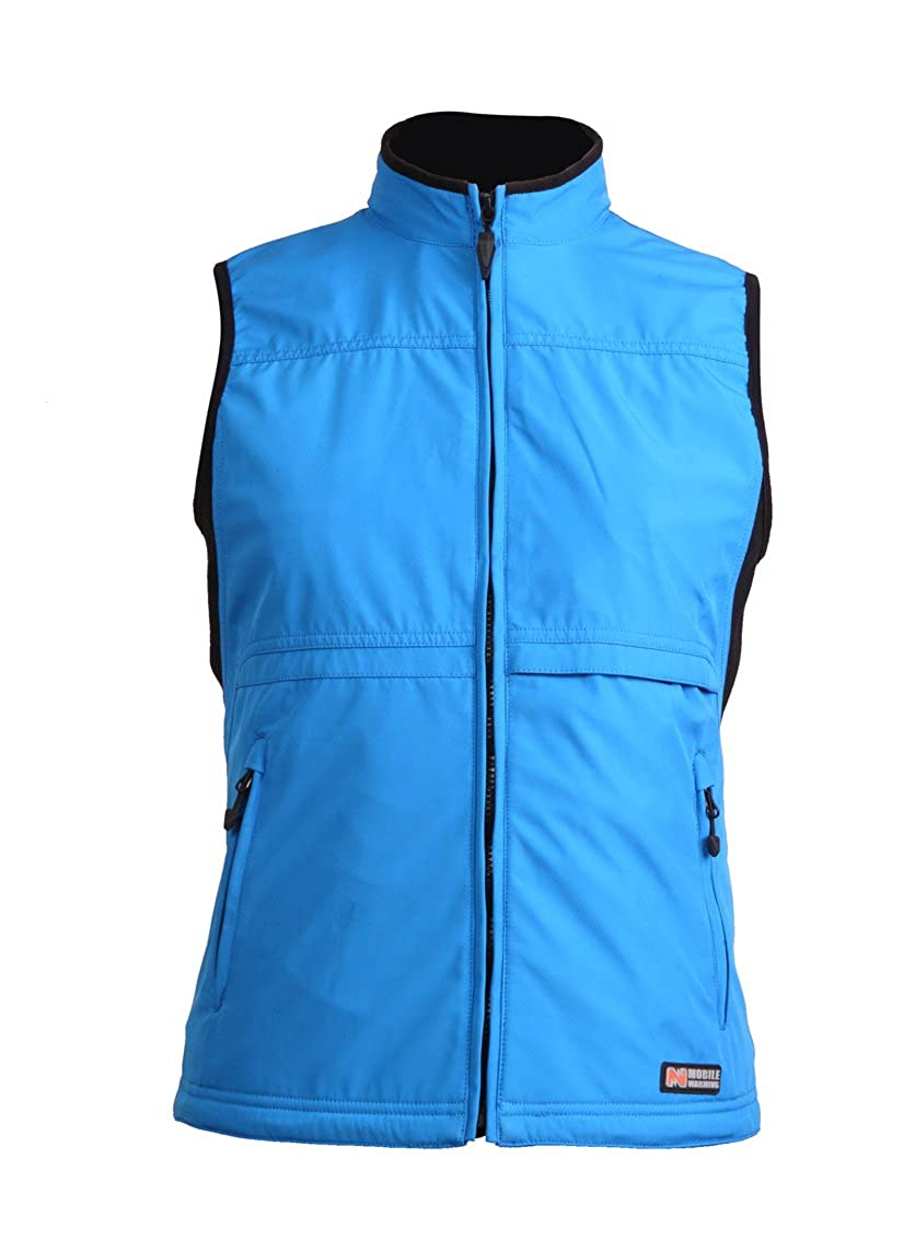Image of Vests Women's MW Golf Softshell Vest, SAPPHIRE BLUE