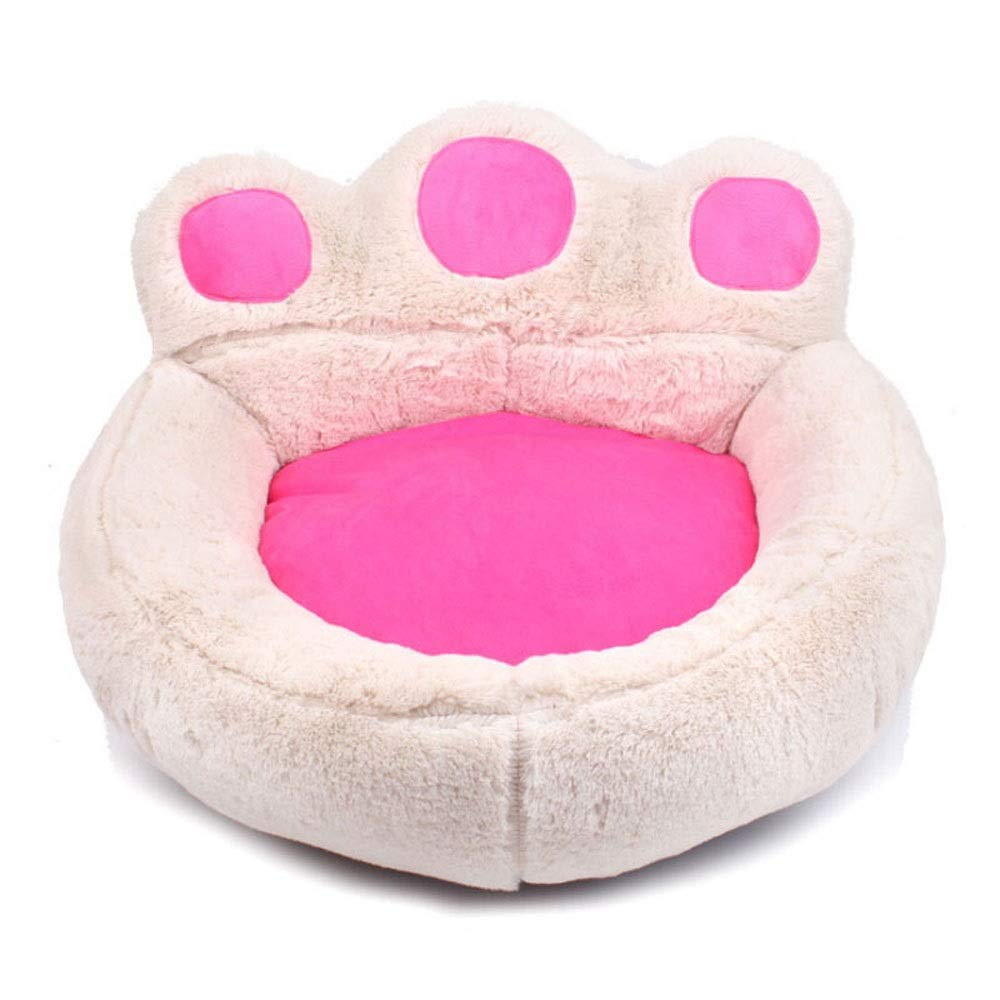 Beige Double nest-M Beige Double nest-M Xuoo Suede Pet Nest Full Washable Spring Summer Autumn and Winter Seasons Universal Small Dog Kennel Sofa Warmth Teddy Bear Xiong VIP Thickening Cat Litter Mat Large Medium