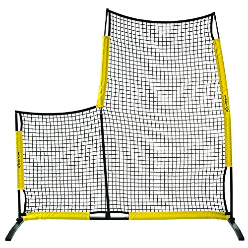 EASTON POP UP Baseball Pitching L Screen | 7 FT x FT | 2020 | Lightweight + Durable For Easy Transport | Aluminum + Steel + Fiberglass Frame Construction | - Netting Hs