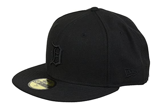 228bdb6ff1061 New Era MLB Detroit Tigers Black On Black 59fifty Fitted Cap Limited Edition