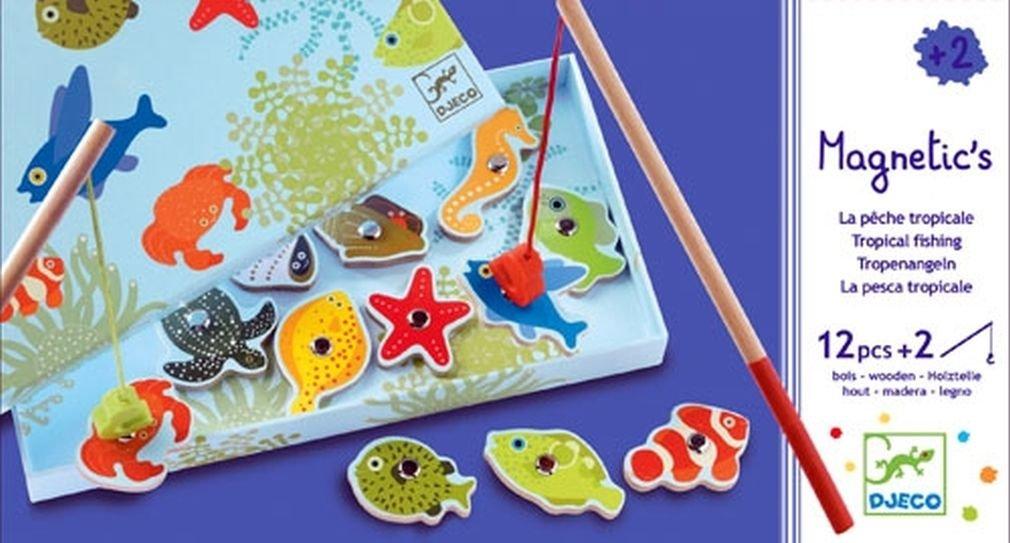 Djeco Magnetic Fishing Game, Tropic