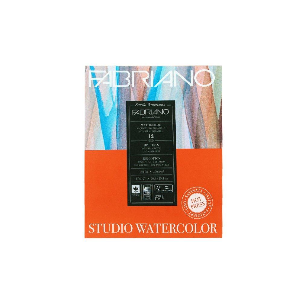 Fabriano Studio Watercolor Pad Hot-Press 8 x 10 140 lb., 12 Shts./Pad SAVIOR-FAIRE