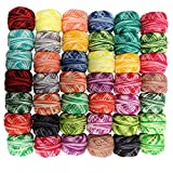 CurtzyTM 42 Colourful Crochet Cotton Thread Reels- 3990 Metres- Crafts Knitting Lacing