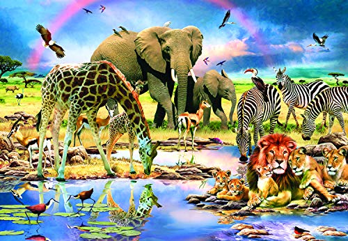 Sunsout 2019 Safari by Artist Howard Robinson 200 Piece Africa Jigsaw Puzzle