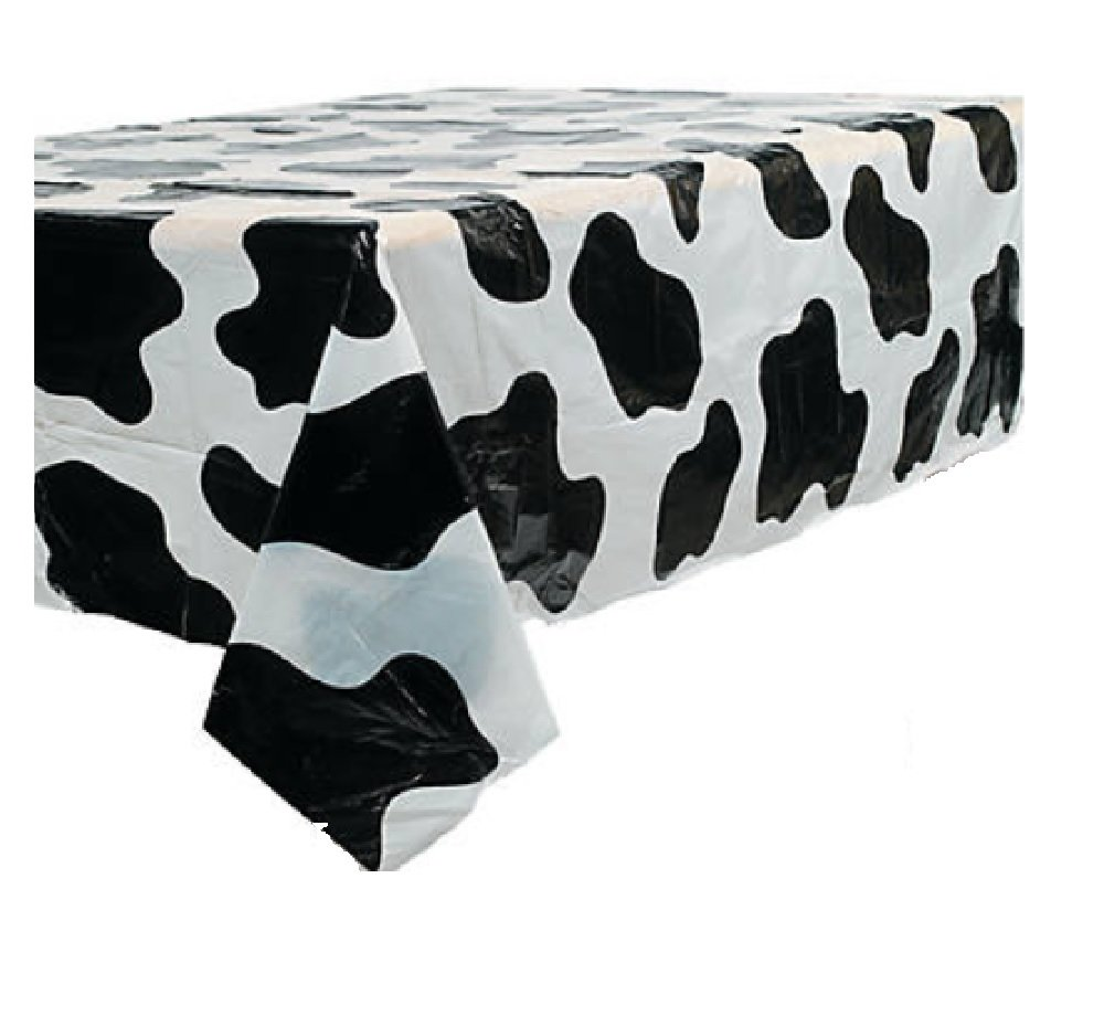 Fun Express Cow Print Plastic Tablecloth 54 X 72 One Cloth