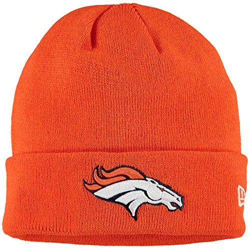 裁判官陰謀シャンパンDenver Broncos New Era Solid Cuffedニット帽子オレンジ