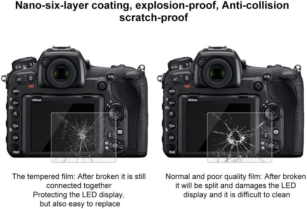 2.5D 9H Tempered Glass Film for Nikon D7100 D750 P510 Fujifilm HS33 D7100 Compatible with Nikon D5 D600 D4S D850 D5100 D610 D810 HS35 P530 D500 D800 D800E GFX50 D5200