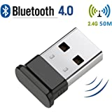 Bluetooth USB Adapter, USB 4.0 Bluetooth Dongle with 2.4Ghz range for Win 10/ 8.1/ 8, desktop, Vista and XP by KEY IDEA (Black)