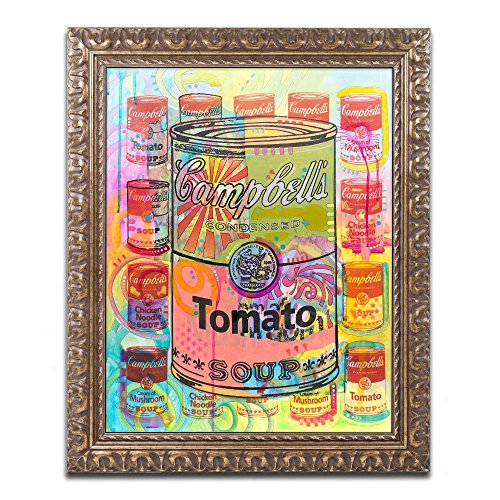 (Tomato by Dean Russo, Gold Ornate Frame 16x20-Inch)