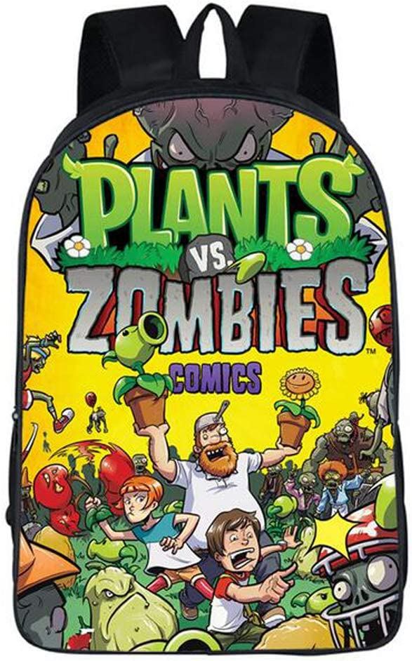 Children Backpack Unisex Pupils Cartoon Students Bookbag Canvas Schoolbag Kid's Knapsack Teens Boy Girl Daypack (Color A)