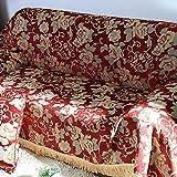 Sofa Slipcovers,Sofa Covers,Protector Furniture european-style sofa towel/anti-slip thick sofa cover cloth-A 180x360cm(71x142inch)