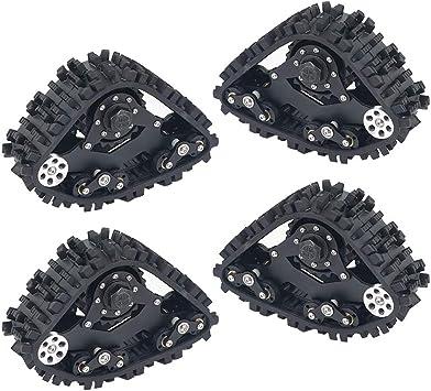 FairOnly 4PCS TRX4 Tracks Wheel Neumático de Nieve de ...