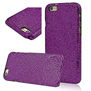 Seedan iPhone 6 (4.7 inch) Case - Dark Purple Bling Tinsel PC Hard Back Cover Skin Protector