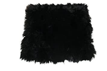 Genuine Australian Sheepskin Chair Cushions Wool Black
