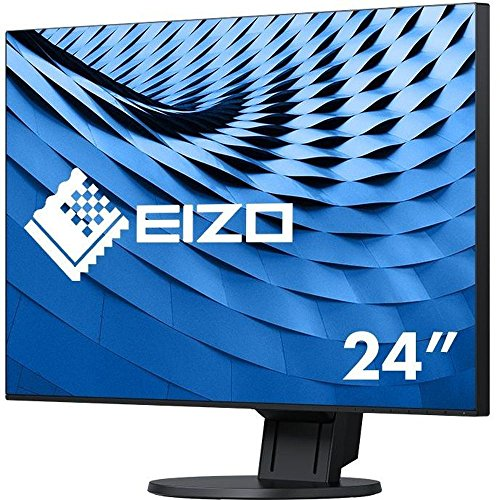 "Eizo 24"" Black LED Monitor Full HD Speakers 172.7mm Height a"