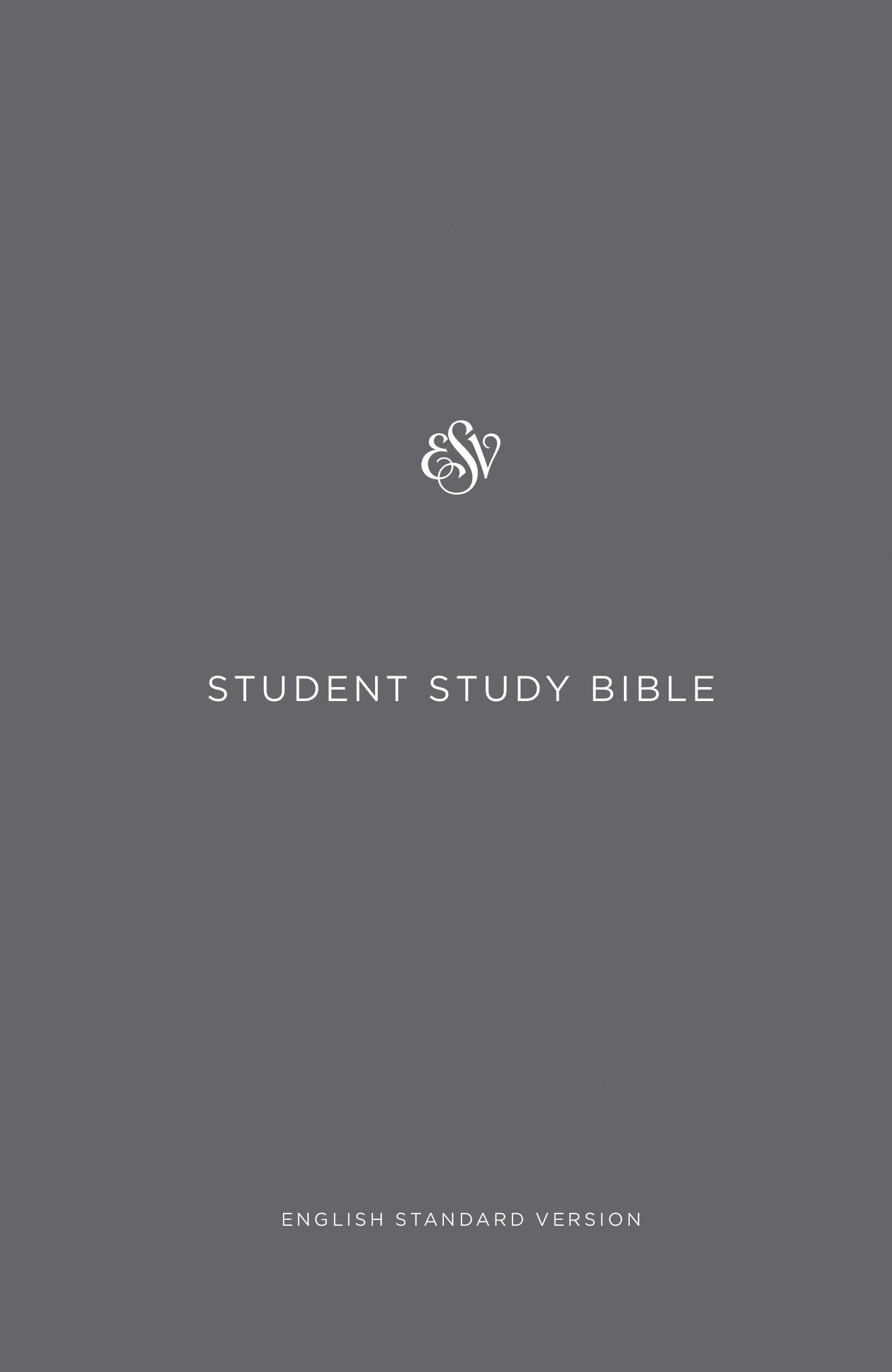 esv student study bible gray