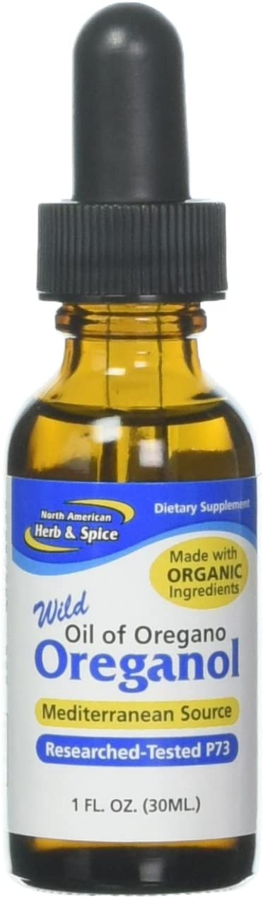 North American Herb and Spice Oreganol P73 Dietary Supplement Immune Health, 1 ounce Pack of 2
