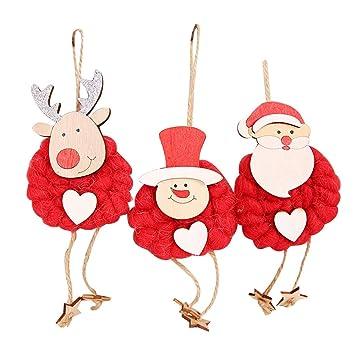 Amazon.com: Jieson Merry Christmas Cute Santa Snowman Reindeer ...