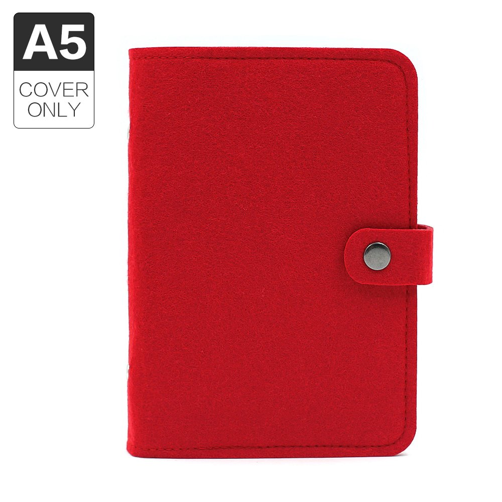 A5 6holes Felt Binder Notebook Diary Cover Spiral Loose Leaf Notebook Shell, Without Filler Pages Tong Yue