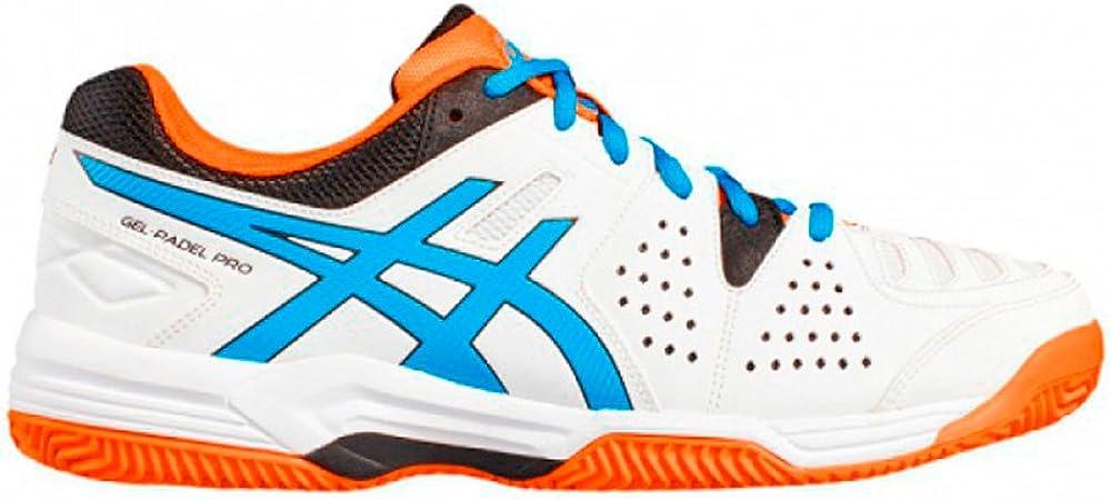 Asics - Gel-Padel Pro 3 SG - Zapatillas de Tenis Outdoor - White/Diva Blue/Shocking Orange: Amazon.es: Zapatos y complementos