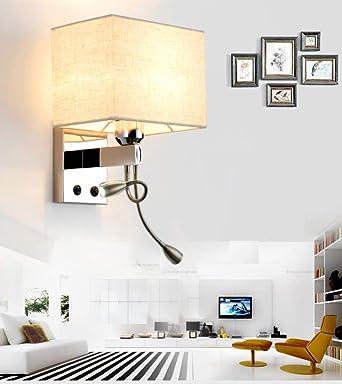 Lintaihousewares Style Moderne Décoratif Tissu Mur Lumières Chevet