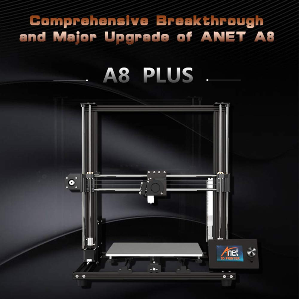 350mm Large Print Size Aluminum Alloy Frame Moveable LCD Control Panel Over-Current Protection Mainboard 300 Aibecy Anet A8 Plus Upgraded High-Precision DIY 3D Printer Self-Assembly 300