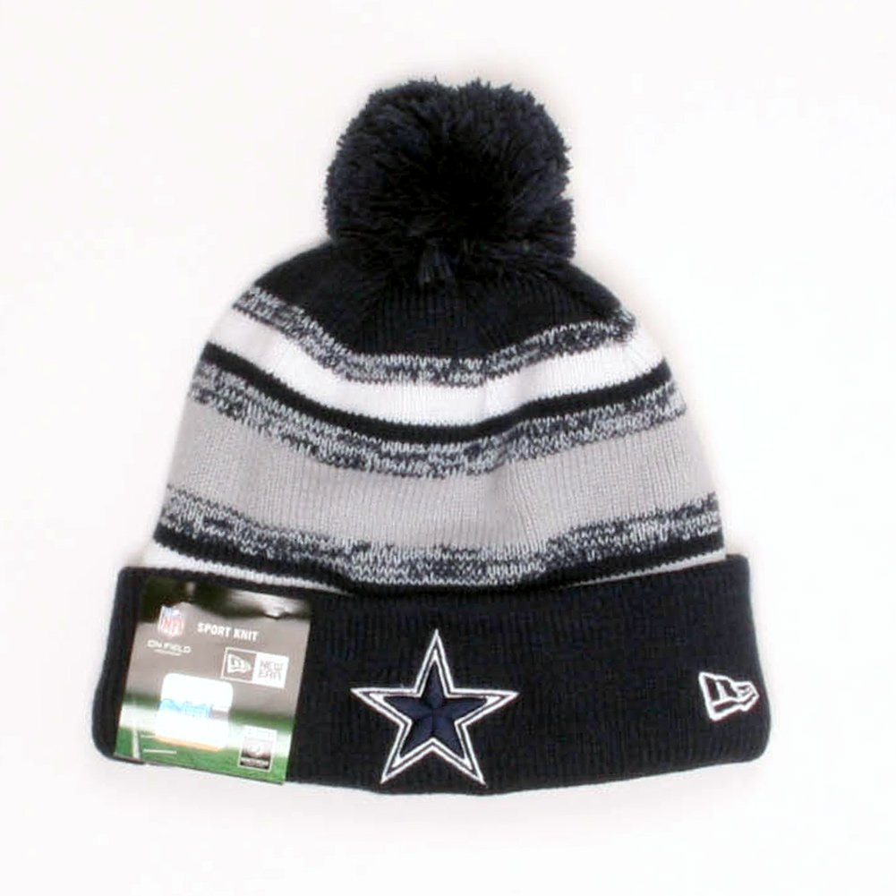 fce35f07 New Era Men's Dallas Cowboys Sideline Sport Knit Beanie Navy/Grey/White  Size One Size