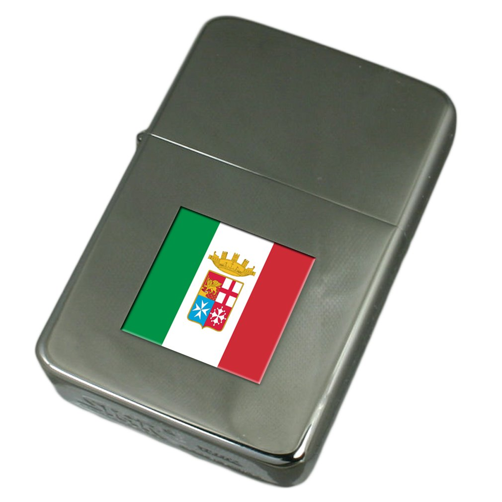 Engraved Lighter Navy Ensign Militairy Italy Flag