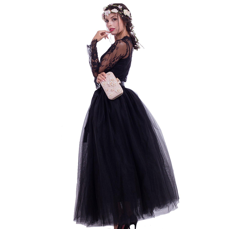 e042cebebc76 Maxi Long Tutu Tulle Skirt for Women Floor Length A Line Pleated Puffy  Wedding Bridesmaid Skirts at Amazon Women s Clothing store