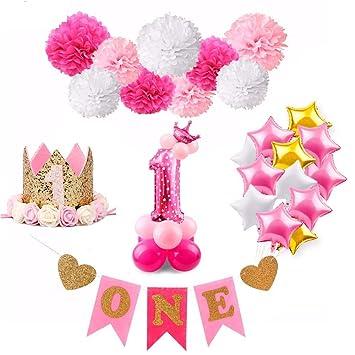 Amazon Birthday Decoration Girl Pink Unicorn Balloons Baby