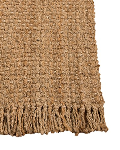 Natural Area Rugs 100% Natural Fiber Handmade Reversible Basketweave Chunky Paloma Jute Rectangular Rug (8' X 10') Beige     -