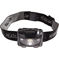 Chinatera 3W Lightweight Led Headlamp Headlight Flashlight Waterproof for Camping, Running, Cycling, Climbing (Black)