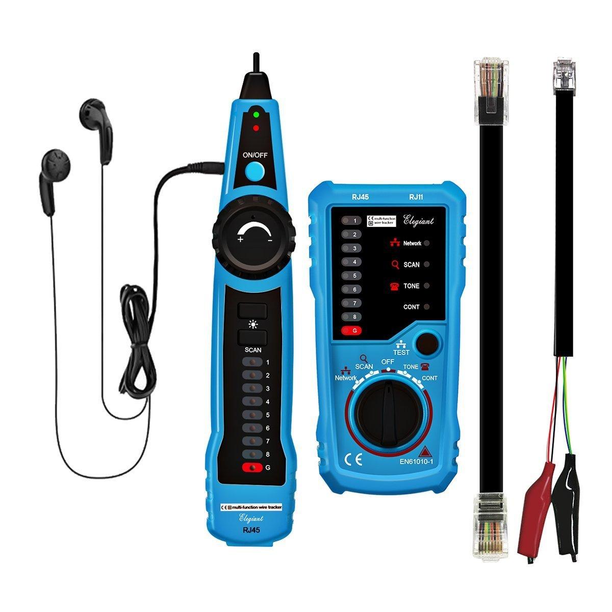 ELEGIANT Wire Tracker RJ11 RJ45 LAN Network Cable Tester Detector Multifunction Line Finder Toner Ethernet ELEGIANT Co. LTD ELEGIANTUHuVbxUwj