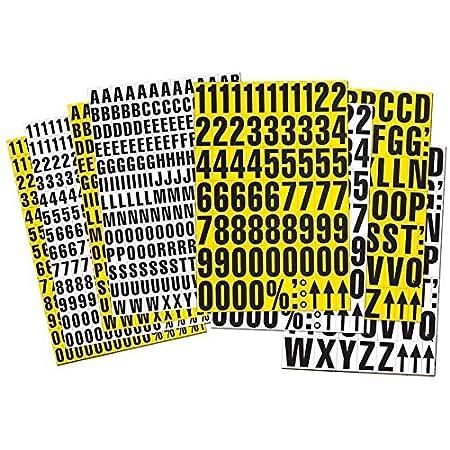 Chiffres magnétiques 43mm haut, Message 0-9, Nb de feuillets 1, couleur:blanc
