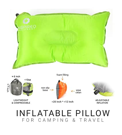 Inspired Equipment Camping Pillow By Compressible Portable