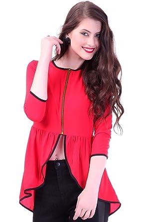 Sassafras Women's Top (SFTOPS4050_Red_Small)