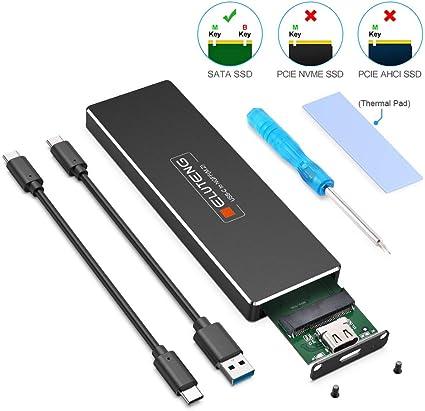 Prise en Charge UASP Argent ORICO Bo/îtiers pour Disque Dur NVME USB 3.1 Gen2 10 GB//s vers Adaptateur de Bo/îtier de Disque Dur PCIe M.2 pour PCIe M-Key et M B-Key 2230//2242//2260//2280 SSD