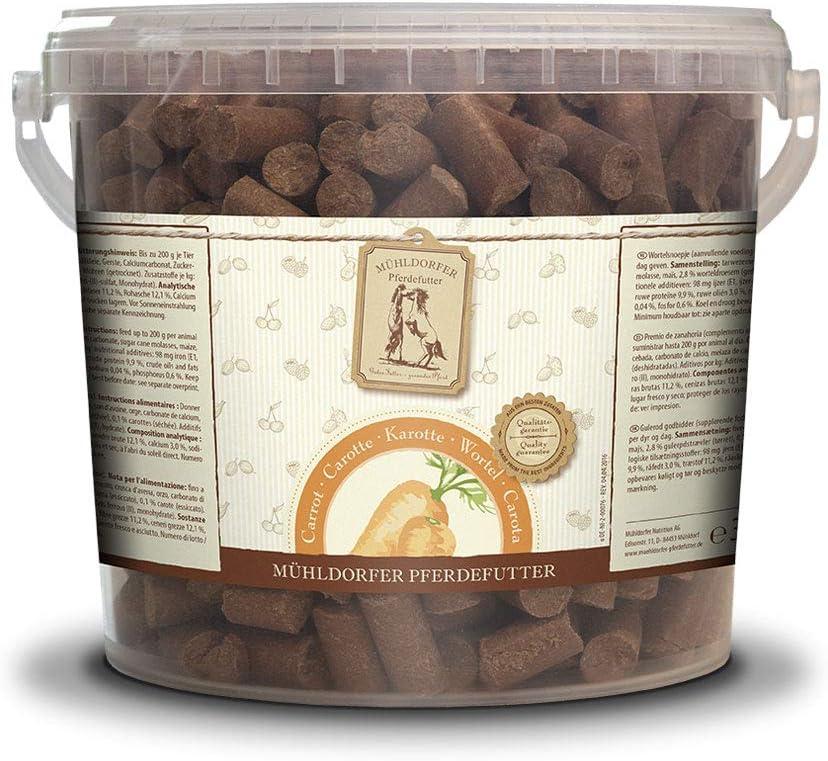 Mühldorfer Zanahoria, 3 kg, premios para Caballos, recompensa con Zanahorias secas, no se manchan ni pegan