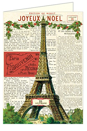 Cavallini Papers Glitter Greetings Christmas Paris Boxed Notes