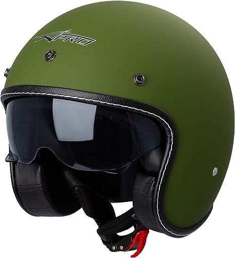 Casco Moto Jet City Omologato ECE 22-05 Doppia Visiera scooter Verde Opaco XS