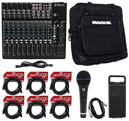 Vlz Pro Bag (Mackie 1402VLZ4 14-Ch. Compact Pro Studio Mixer+Bag+Microphone+(6) XLR Cables)