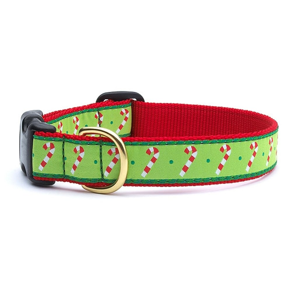 Up Country Candy Canes Dog Collars (L (15-21); Wide 1)