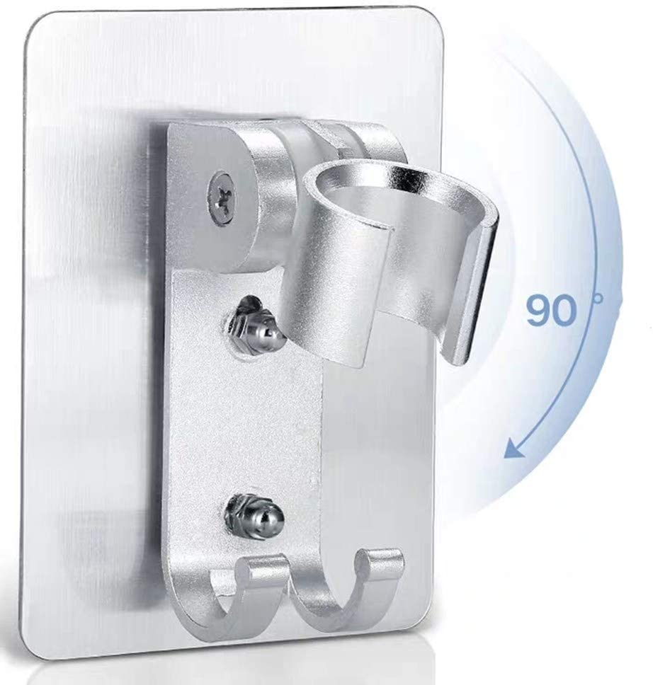N\ A Porta Doccia Senza Punzonatura Supporto per Soffione Doccia Girevole Regolabile a 360 /° Supporto per Soffione Doccia Universale Forte Aspirazione per Bagno di Casa Blue