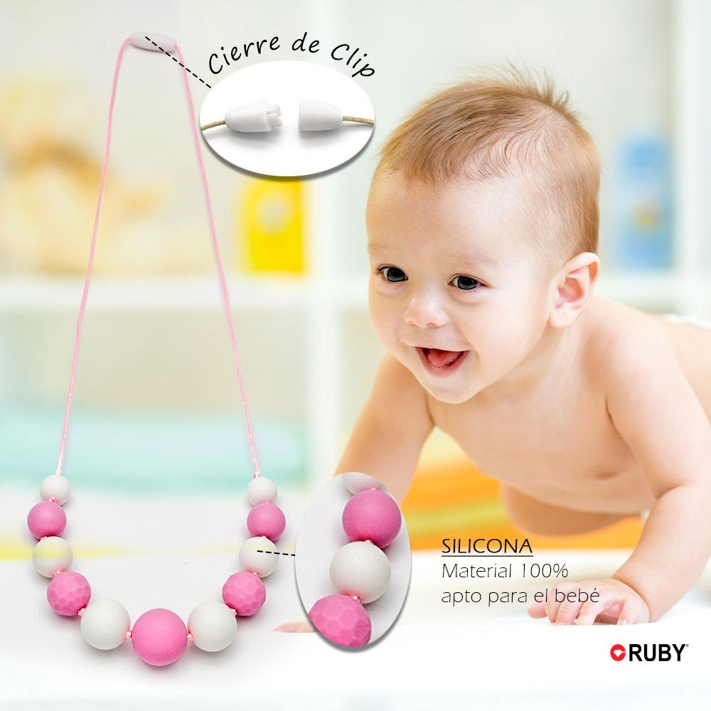 Collar Lactante Mordedor de Bola Silicona para Beb/és RUBY