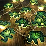 Battery Operated String Lights Elephant with Timer Control 20 Micro LED Wire Lights Waterproof Outdoor for Garden,Patio,Christmas,Holiday,Valentines Day(ELE)